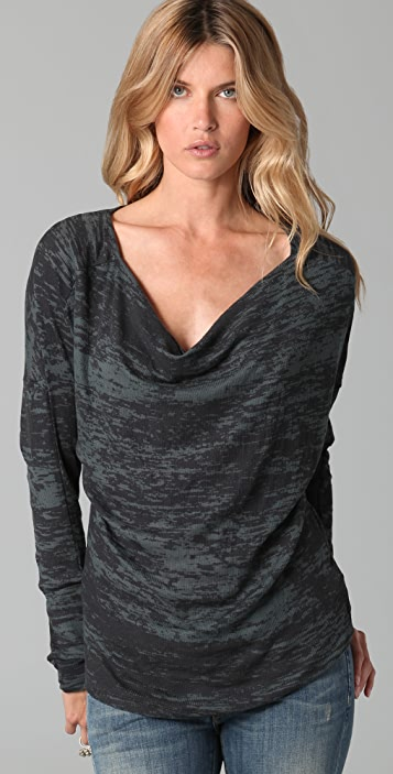 Three Dots Draped Front Top