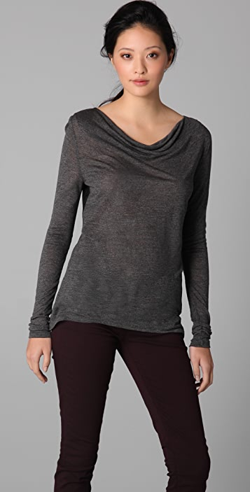 Three Dots Draped Top
