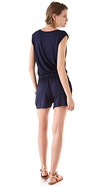 Three Dots Cowl Neck Romper