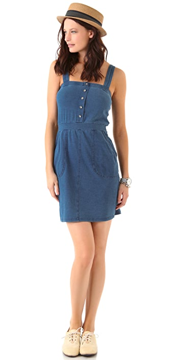 Three Dots Button Front Dress