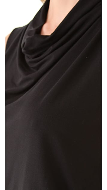 Three Dots Pleated Cowl Neck Dress