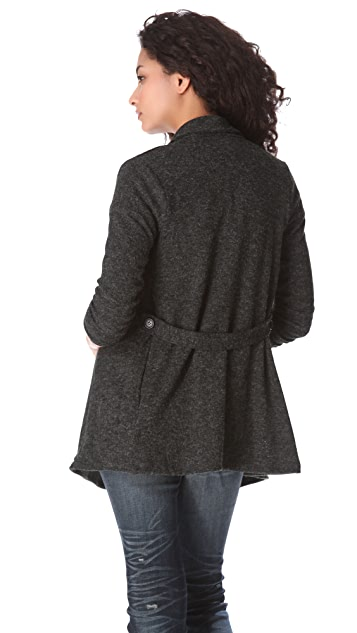 Three Dots Cardigan with Two Way Belt