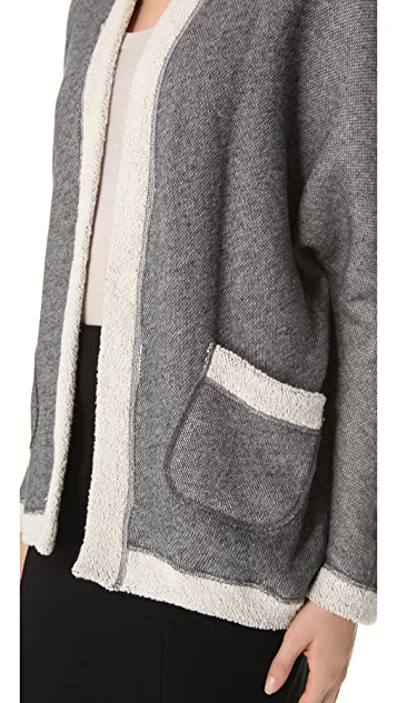 Three Dots Cocoon Open Cardigan