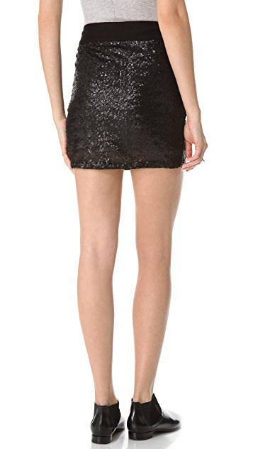 Three Dots Sequined Miniskirt