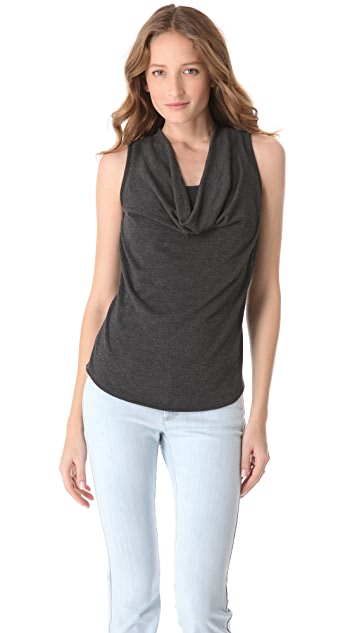 Three Dots Cowl Neck Top