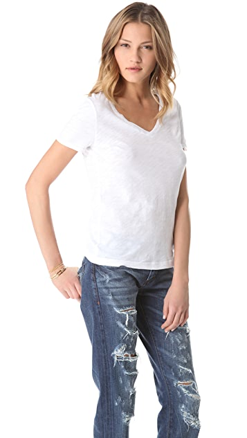 Three Dots V Neck Tee