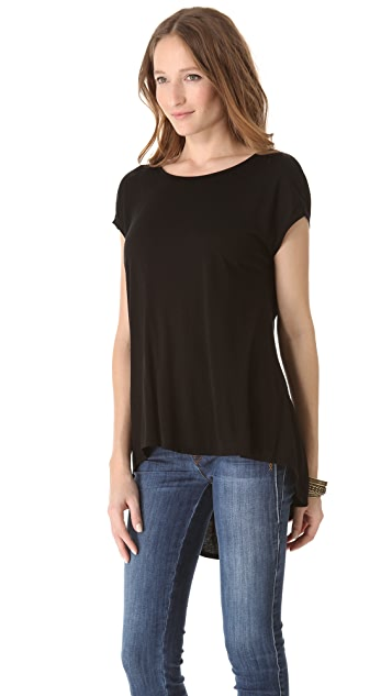 Three Dots Draped Back Tunic