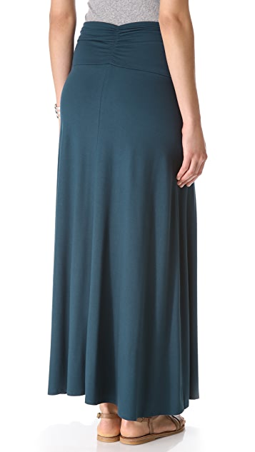 Three Dots Shirred Maxi Skirt / Dress