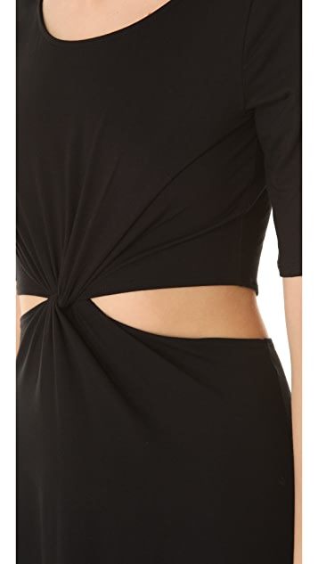 Three Dots Minnie Mortimer Cutout Twist Dress