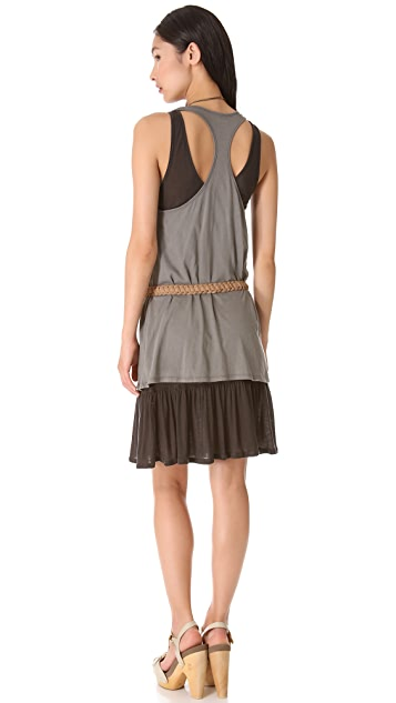 Three Dots Dress with Cascading Hem