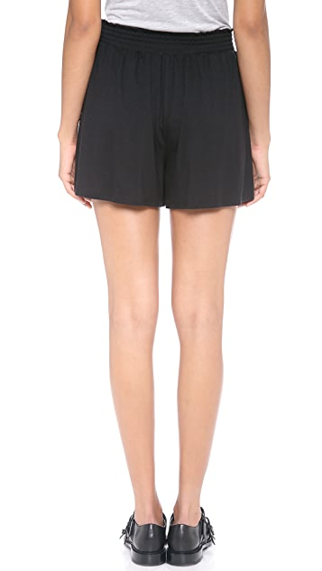 Three Dots Shorts with Elastic Shirring
