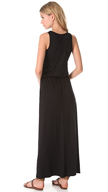 Three Dots Drawstring Maxi Dress