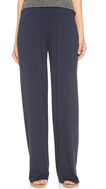 Three Dots Viscose Lycra Relaxed Pants