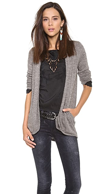 Three Dots Draped Cardigan