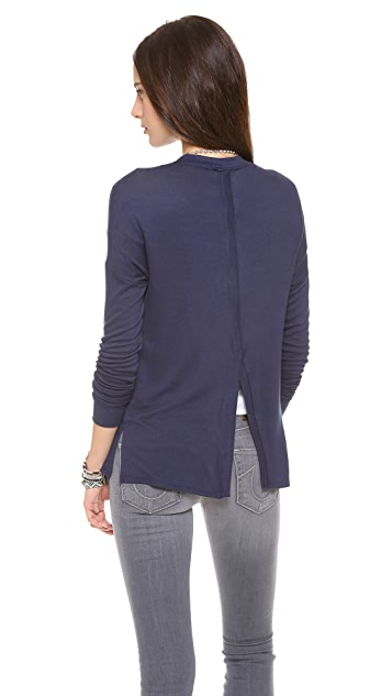Three Dots Back Slit Cardigan