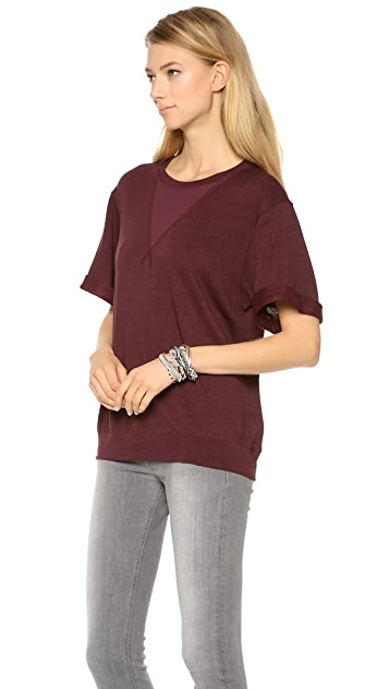 Three Dots Rolled Cuff Sweatshirt