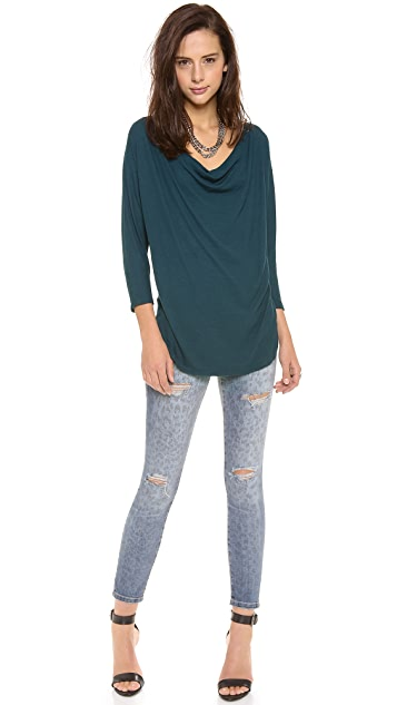 Three Dots Cowl Neck Tunic