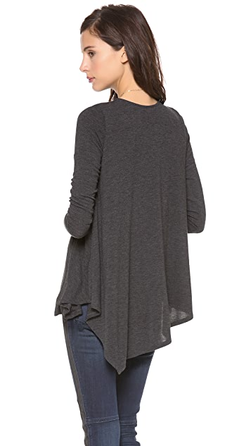 Three Dots Asymmetrical Hem Top