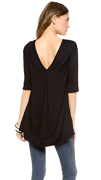 Three Dots V Back Fishtail Tunic