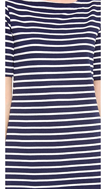Three Dots French Terry Stripe Dress