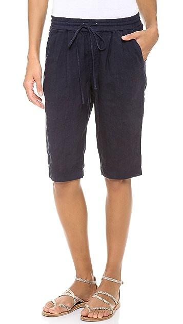 Three Dots Drawstring Long Shorts