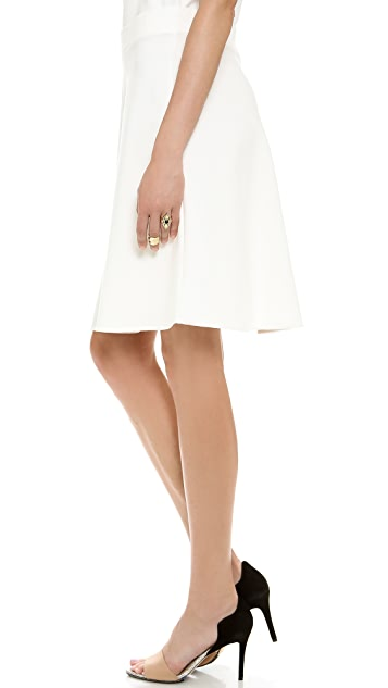 Three Dots Knee Length Trumpet Skirt