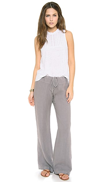 Three Dots Wide Leg Drawstring Pants