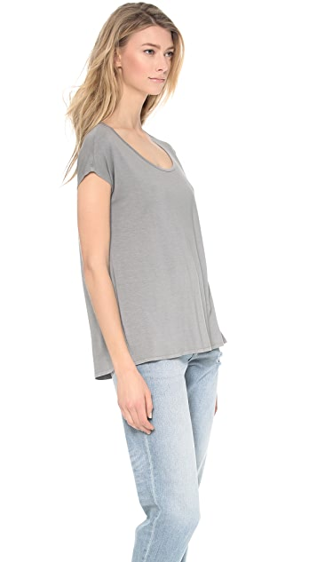 Three Dots Cap Sleeve Relaxed Tee