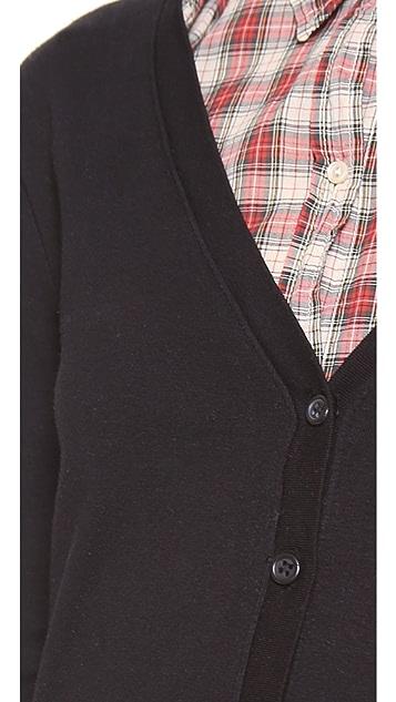 Three Dots 3/4 Sleeve Pocket Cardigan