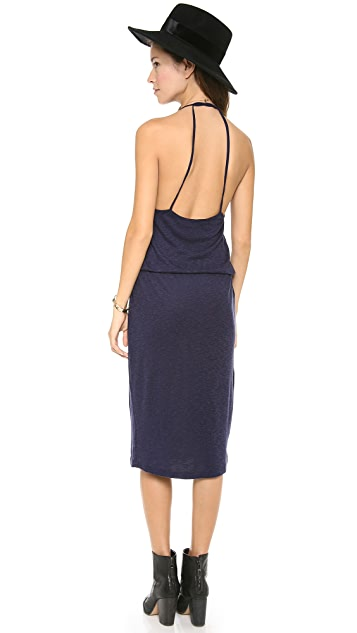 Three Dots Midi Halter Dress
