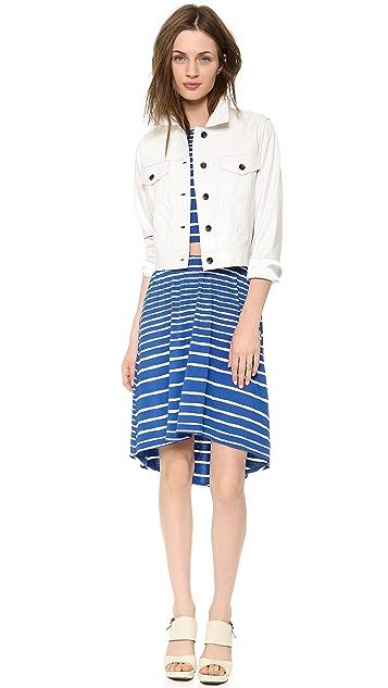 Three Dots High Low Cutout Dress