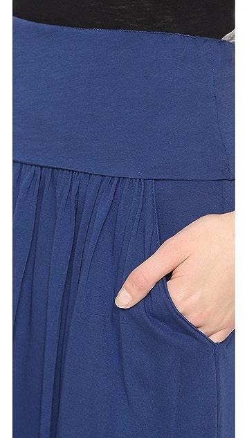 Three Dots Fold Over Maxi Skirt