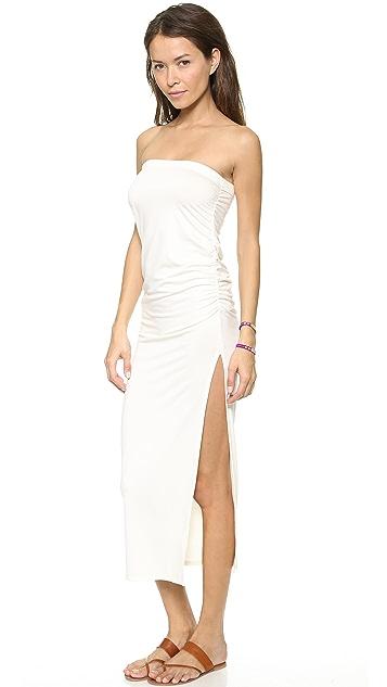 Three Dots Ruched Maxi Skirt / Dress