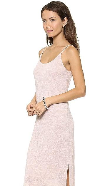 Three Dots Eva Slub Midi Dress