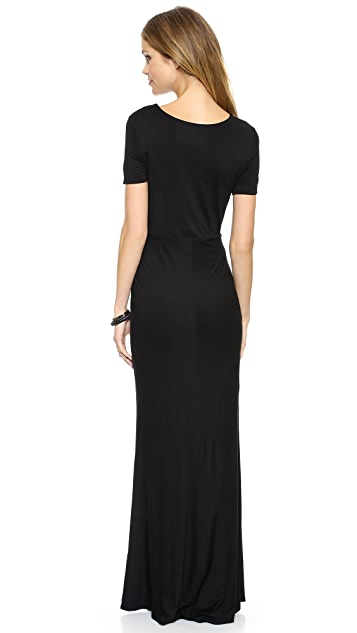 Three Dots Short Sleeve Maxi Dress