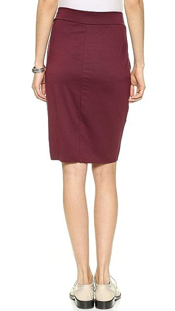 Three Dots Draped Skirt