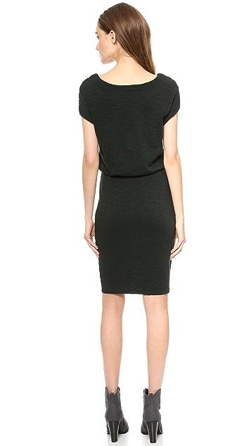 Three Dots Knit Blouson Dress