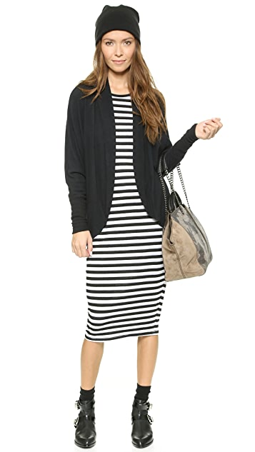 Three Dots Long Sleeve Crew Neck Dress
