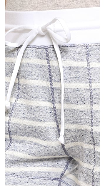 Three Dots Montauk Stripe Shorts
