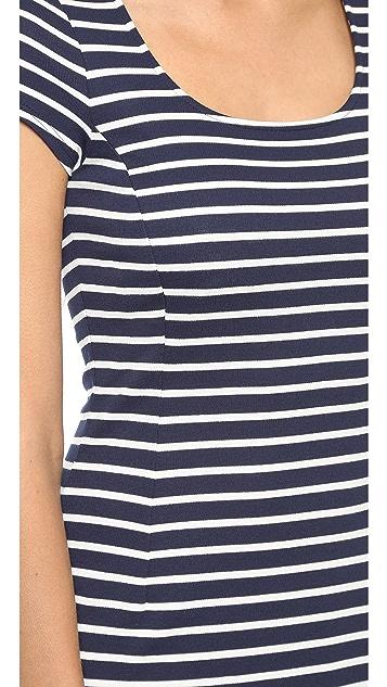 Three Dots Nautical Stripe Dress