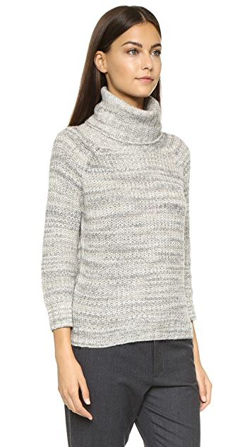 Three Dots Chunky Knit Turtleneck Sweater