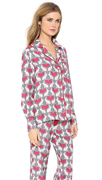 Three J NYC Coco Silk Pajama Set