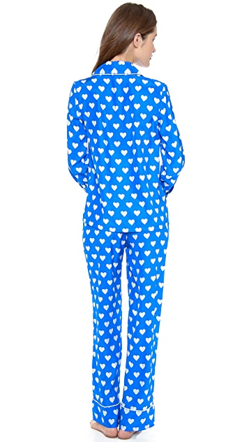 Three J NYC Coco Hearts PJs