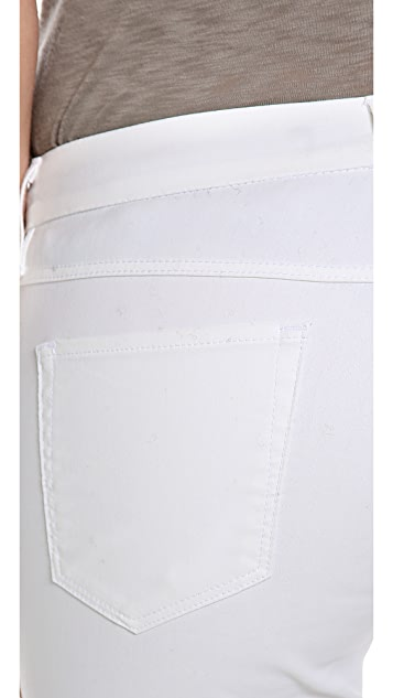 3x1 W2 Mid Rise Coated Skinny Jeans