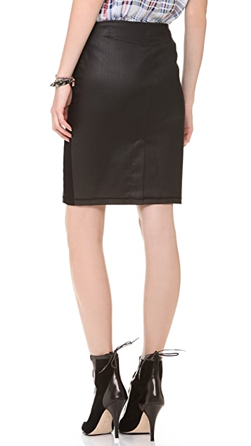 3x1 W2 Coated Pencil Skirt