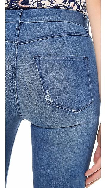3x1 Distressed Channel Seam Skinny Jeans