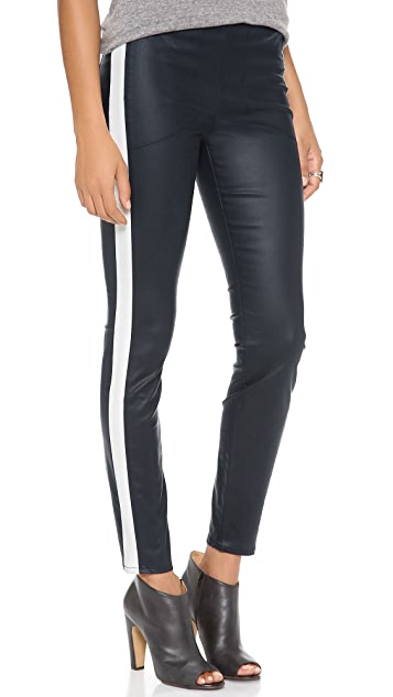 3x1 Moto Coated Skinny Pants