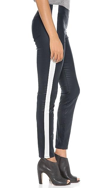 3x1 Moto Coated Skinny Pants