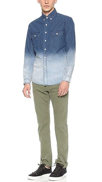 3x1 Dark Ombre Denim Work Shirt