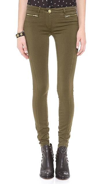 3x1 Sateen Wrap Zip Skinny Pants